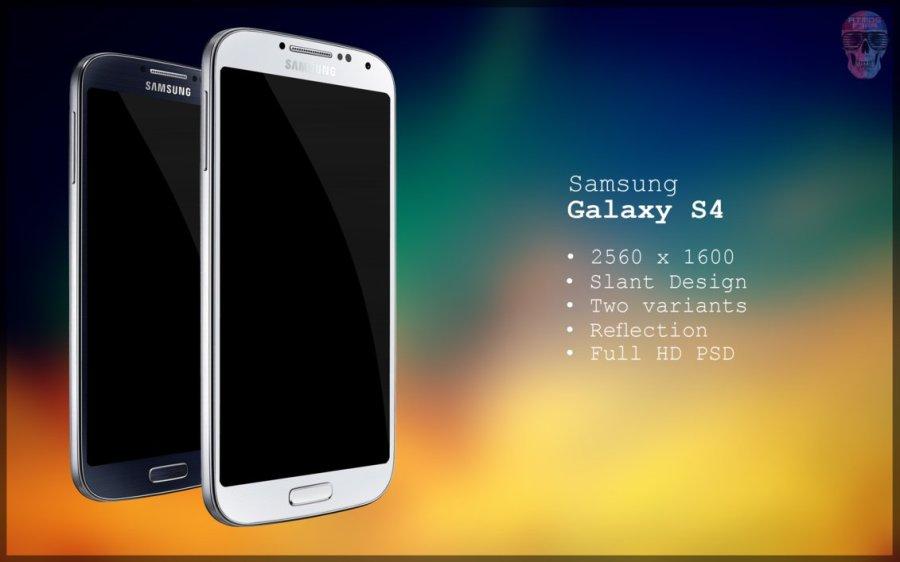 Samsung Galaxy S4 Slant PSD