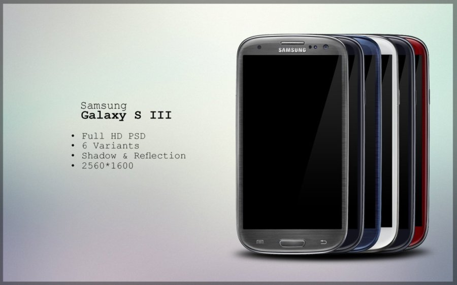 Samsung Galaxy S3 PSD (all colors)