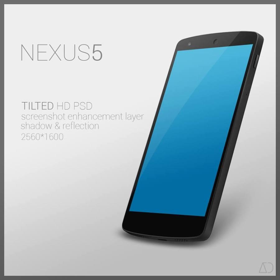 Nexus 5 : PSD [TILTED]
